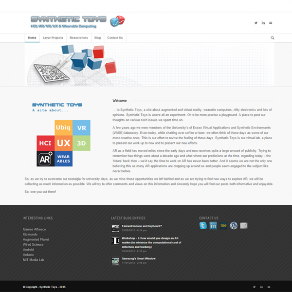 Project: Synthetic Toys - Innovative Frog - Web Design & Web Apps