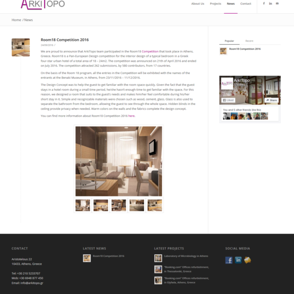 Project: Arki Topo - Innovative Frog - Web Design & Web Apps