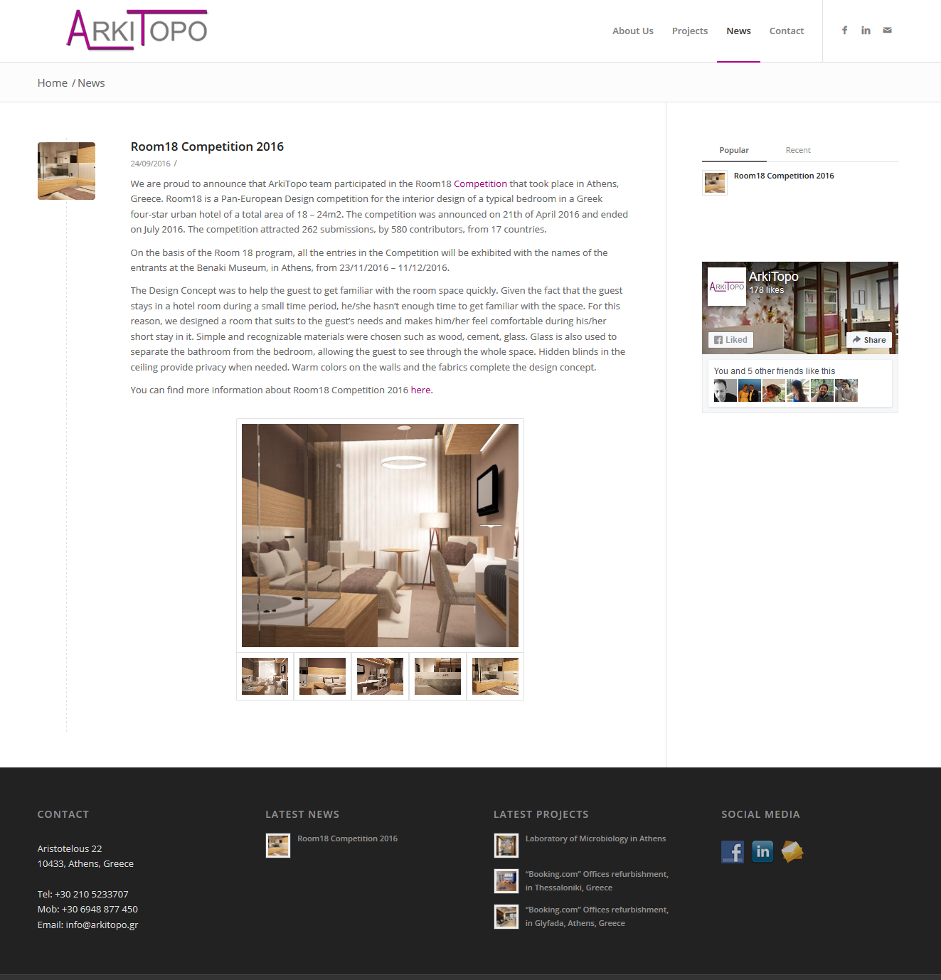 Project: Arki Topo - Innovative Frog - Web Design & Web Apps